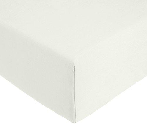 AmazonBasics 'Everyday' Spannbetttuch aus 100%, Baumwolle, 100 x 200 x 30 cm - Grün