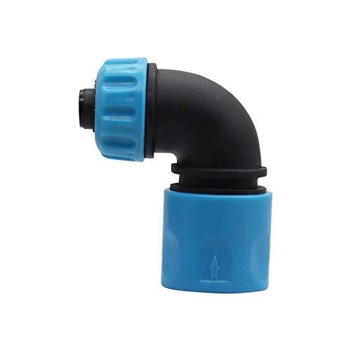 1 UNID ABS 1/2 'Conectores de manguera Conectores rápidos Conectores de jardinería Tubo de lavado de automóviles rápido Adaptadores de articulación rápidos de codo Acoplamiento rápido ( Color : Blue )
