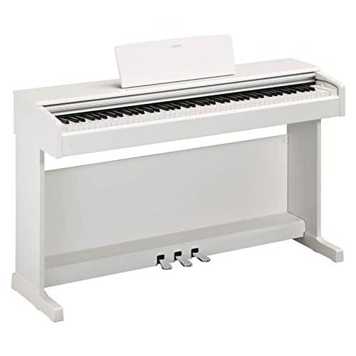Yamaha Arius Digital Piano YDP-144WH – Pianoforte Digitale con Suono da Concerto – Connettore Host USB – Compatibile con l'Applicazione Gratuita Smart Pianist – Bianco
