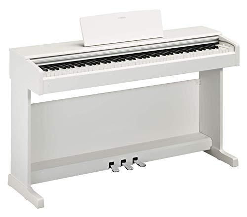 Yamaha Arius Digital Piano YDP-144WH, weiß – Elektronisches Klavier mit Hammermechanik, Konzertflügel-Klang & USB-to-Host-Anschluss – Kompatibel mit kostenloser App