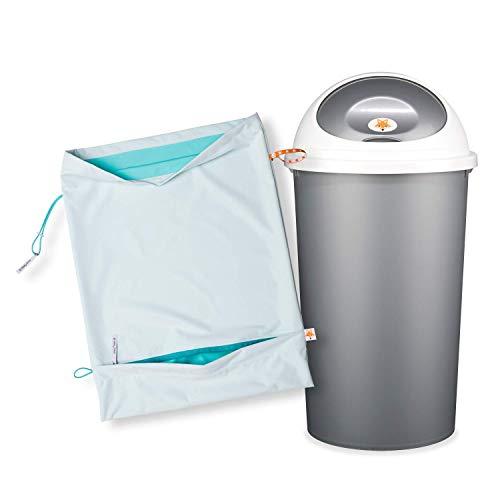 Foxy Baby® Waschsack und Windeleimer für Stoffwindeln - Sparpack (Apfelblauseegrün)