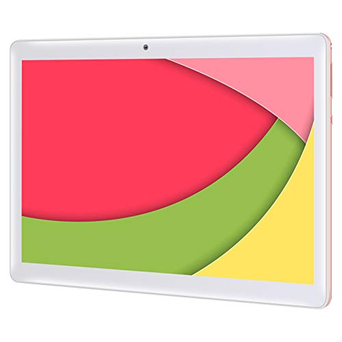 Qimaoo Tablet 10 Zoll Android 10.0, 4G LTE Tablet PC, Octa Core Prozessor, 4 GB RAM 64 GB ROM, Dual SIM/Kameras, HD (1280 x 800), 6000mAh Akku, WiFi/Type C/GPS/Bluetooth 4.0 Tablets (Rosa)