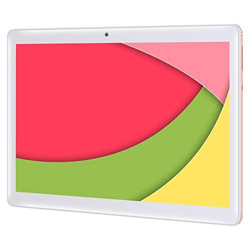 Qimaoo Tablet 10 Zoll Android 10.0, 4 GB RAM 128 GB ROM, Octa Core Prozessor, 4G LTE Dual SIM, HD (1280 x 800), 6000mAh Akku, WiFi/Type C/GPS/Bluetooth 4.0 Tablets (Rosa)