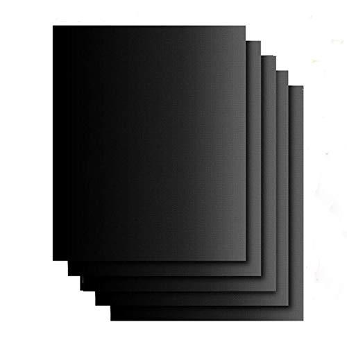 B-G Alfombrilla de barbacoa reutilizable negra antiadherente duradera y resistente a altas temperaturas, puede tocar directamente el revestimiento