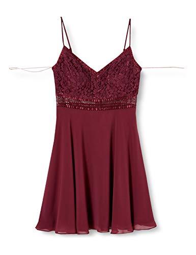 Vera Mont Damen 8117/4000 Kleid, Rot (Shiny Bordeaux 6331), (Herstellergröße: 36)