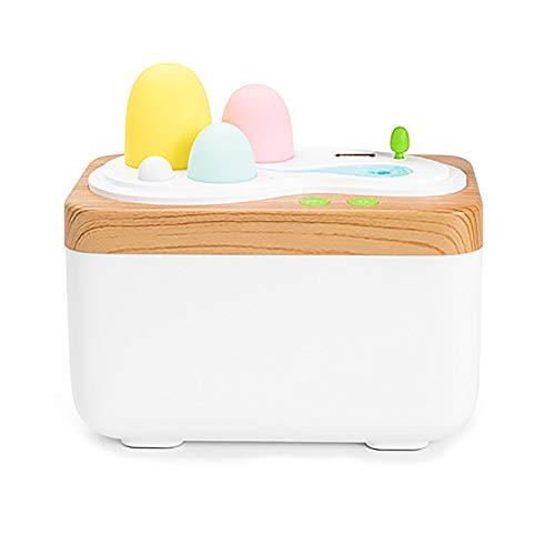Humidificador fresco con luces LED de noche coloridas, mini humidificadores de aire silenciosos recargables por USB, con control remoto, apagado automático sin agua
