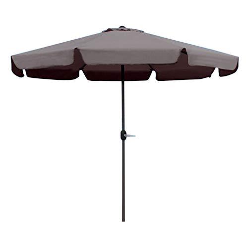 Parasols 3m sombrilla al Aire Libre balcón sombrilla jardín terraza Techo Patio sombrilla-marrón Ocio sombrilla Publicidad sombrilla sombrilla de Playa