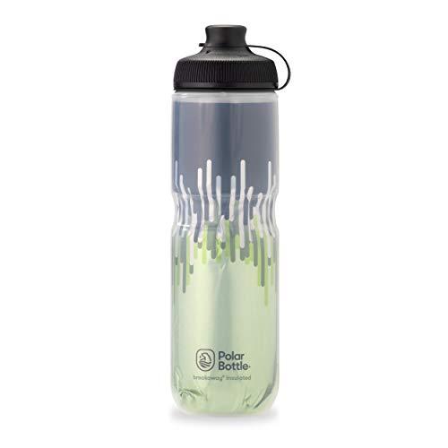 Polar Bottle Breakaway Muck Isolierte Mountainbike-Wasserflasche – BPA-frei, Radfahren & Sport Squeeze Flasche mit Staubschutz (Reißverschluss – Moos & Wüste, 680 ml)