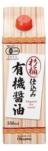 杉桶仕込み有機醤油(紙パック) (550ml) 【オーサワジャパン】