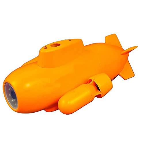 JINFENFG Miniatura portátil inalámbrico RC Submarino Detector de inspección de Patrulla subacuática Cámara Ultra Clara Cámara de Disparo subacuático con iluminación Nocturna más Clara