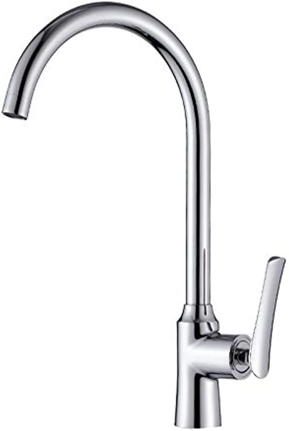 304 Stainless Steel Flat Three-Way Sink Faucet Hot and Cold Water Vientiane Tube Kitchen Sink Faucet