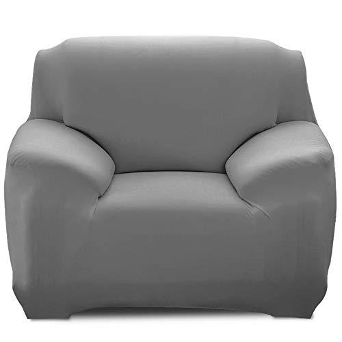SearchI Fundas Sofá Elástica de 1 Plaza,Cubre Sofa Universal Cubiertas de Sofa Antideslizante Desmontable y Lavable,Fundas Protector para Sofás Sillones Gris