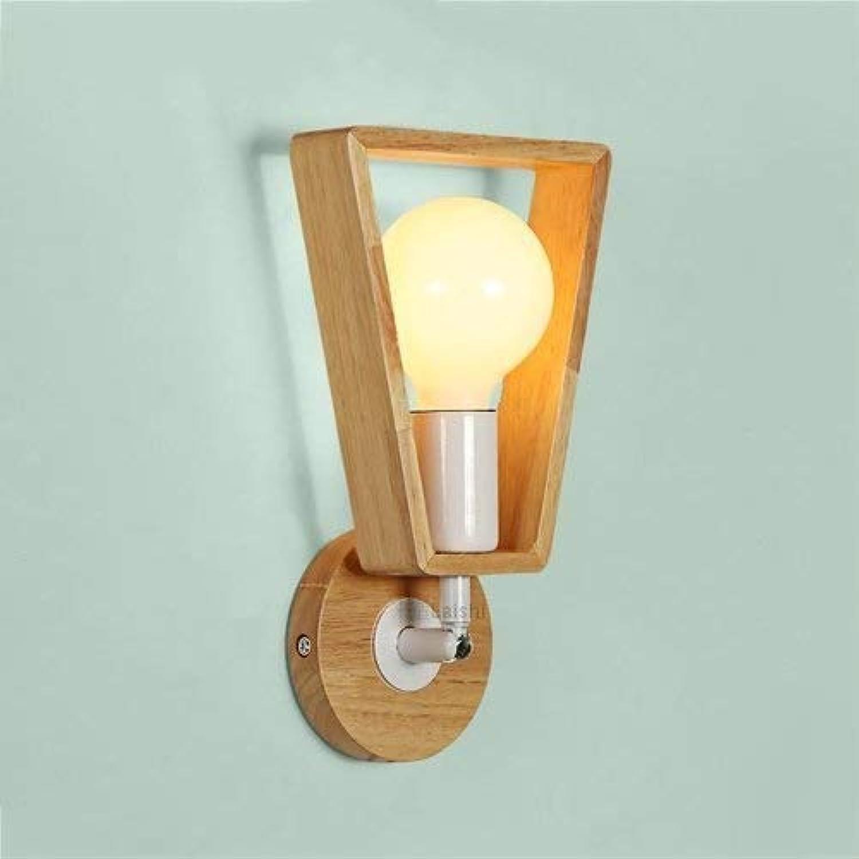 DLINMEI Wandleuchte aus Holz Wandleuchte E26   27 moderne Wandleuchte Wandleuchte Leuchte für Schlafzimmer, Wandschrank