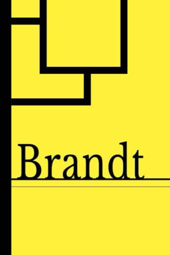 Brandt: Blank Lined Journal & Diary for Writing & Notes | Customized Name Brandt Gifts | 6x9 - 120 Pages Notebook