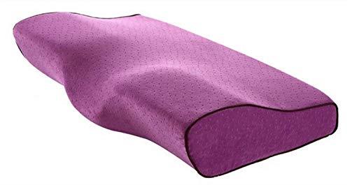 La almohada con memoria para el cuello alivia la f Almohada de memoria en forma de mariposa Almohada de espuma de memoria para almohadas cervicales de sueño Relaje la columna cervical Adultos Pomo de