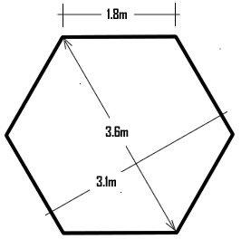 Garden Classics® HORWOOD GARDEN METAL FRAME POP UP FOLDING HEXAGONAL GAZEBO BEIGE FABRIC 3.6M X 3M WITH NET CURTAINS 1