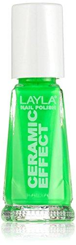 Layla Cosmetics 1243R23-108 Smalto, Effetto Ceramica, Tonalità 108 Green Fluo
