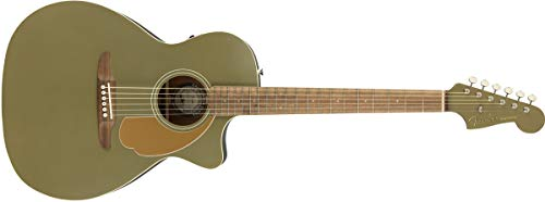 Fender Newporter Player Acoustic Guitar - Olive Satin - Walnut Fingerboard