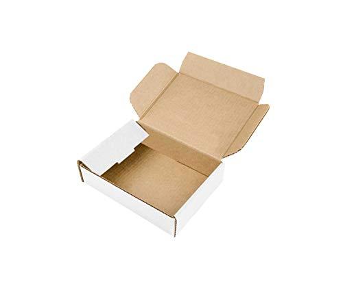 Scatole Fustellate in Cartone Micro Onda Robuste per Spedizioni Imballaggio Organizzazione Casa Regali Natale Colore qualità 21 x 21 x 7 H cm, Set Made in Italy (Bianco, Set 5 Pezzi)