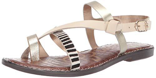 Sam Edelman Women's Gladis Sandal, Bone/Luxe Gold/Black/Ivory, 10 M US