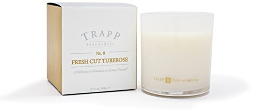Trapp Ambiance Collection No. 8 Fresh Cut Tuberose Poured Scented Candle, 8.75 Ounces
