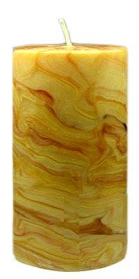 Bienenwachs Stumpenkerze, 100 x 70 mm, marmoriert, reine Handarbeit