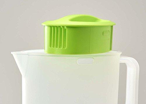 『パール金属 日本製 お茶 麦茶 ポット 2.0L グリーン クールポット デリシャすまいる H-5796』の2枚目の画像
