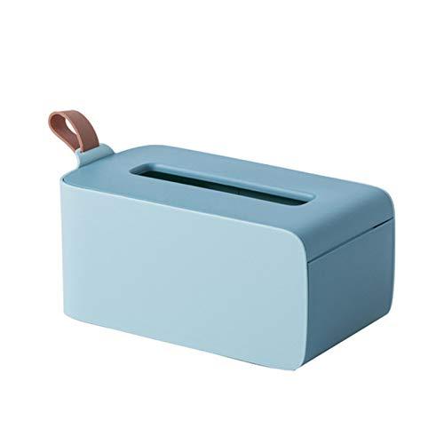 ADDFOO Caja PaaUelos con Sello, Toallitas para BebéS, Caja Almacenamiento Papel, Soporte para Dispensador, Caja PaaUelos PláStico para el Hogar una Prueba Polvo con Tapa - Azul