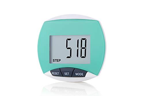 LEBEXY Schrittzähler Pedometer mit Clip Einfache | Kilometerzähler Joggen | Fitness Tracker | Schrittzaehler Testsieger ohne app und Handy