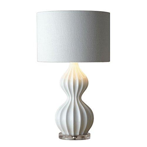 William 337 Lampe de table en céramique - Lampe de chevet chaude chambre minimaliste moderne - Base de cristal éclairage décoratif nordique (Couleur : B)