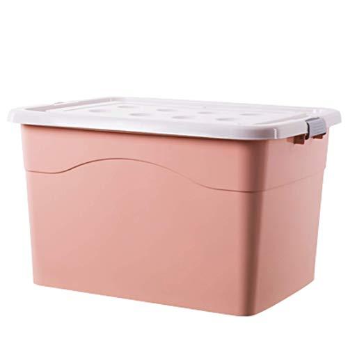qianbanger Caja de Almacenamiento de plástico Caja de Almacenamiento de Ropa de Juguete de Snack Engrosada con Tapa hogar 38 * 27.5 * 20.5cm