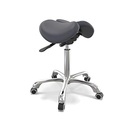 Master Massage Berkeley Ergonomic Split Style Saddle Stool in Royal Blue