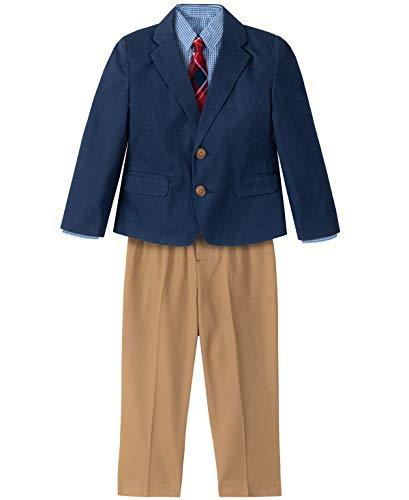 Nautica Conjunto de Traje de 4 Piezas para niños con Camisa de Vestido, Corbata, Chamarra y Pantalones,…