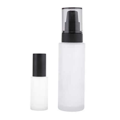 SDENSHI 2 Pièces Bouteilles de Voyage Vide Bouteille Spray Verre Pompe de Lotion Récipient Distributeur de Maquillage