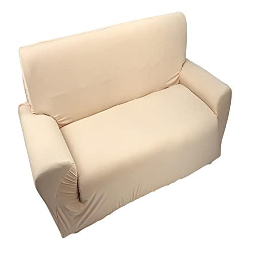 Uxsiya Funda para sofá 2 plazas 7 Colores Funda para sofá de Alta Elasticidad Sala de Estar Hotel para el hogar(Beige)