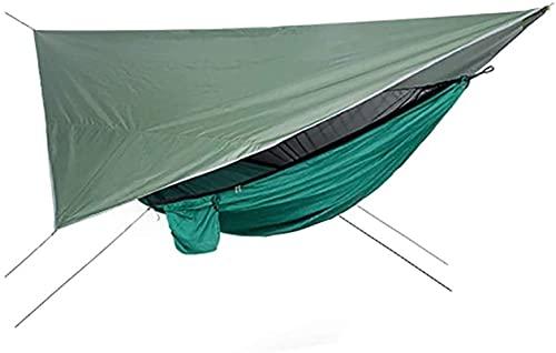 SHWYSHOP Carpas para Acampar Hamaca Mosquitera Hamaca Juego de Dosel Al Aire Libre Apertura rápida Sombra a Prueba de Lluvia Tienda de campaña para Outdoo