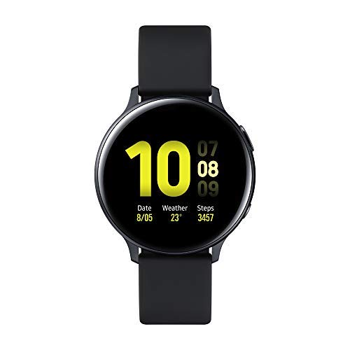 Samsung Galaxy Watch Active2 Smartwatch Bluetooth 44 mm in Alluminio e Cinturino Sport, con GPS, Sensore di Frequenza Cardiaca, Tracker Allenamento, IP68, Nero (Aluminium Black), Versione Italiana