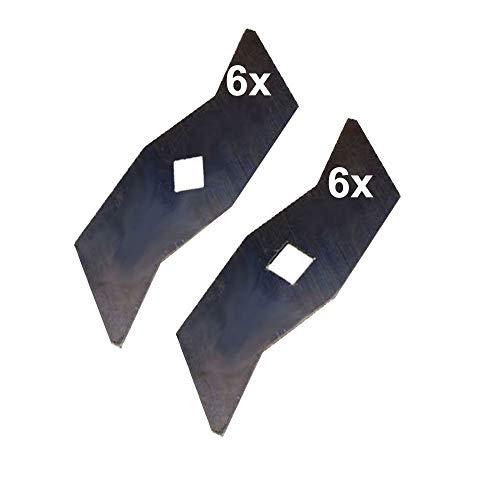 12 Vertikutierer Messer für AL-KO ALKO Powerline 380VB VE 360VE 380VB-S 38 VB ersetzt: 104592 510504