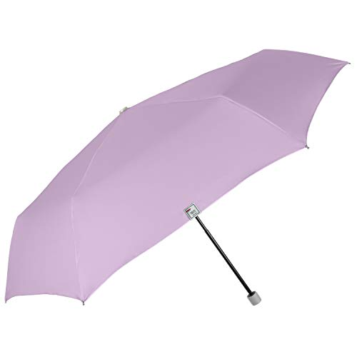 Regenschirm UV Block Schutz für Damen Mädchen - Super Kompakt Taschenschirm Silber Pastellfarbe - Minischirm Reise Schirm Windproof Leicht Bunt Stabil - Durchmesser 91 cm - Perletti Trend (Lila)