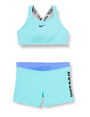 Nike Mädchen Crossback Sport Biki Bikini, grün (Aurora Green), S