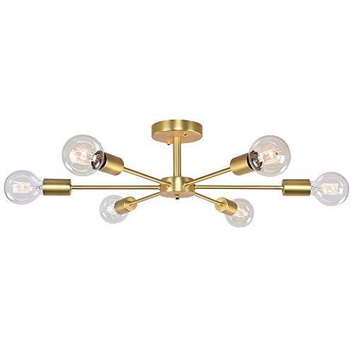 OYIPRO Deckenleuchte Nordisch Deckenlampe Kronleuchter E27 Lampenfassung Metall für Wohnzimmer Schlafzimmer Esszimmer Balkon Restaurant Shop Bar