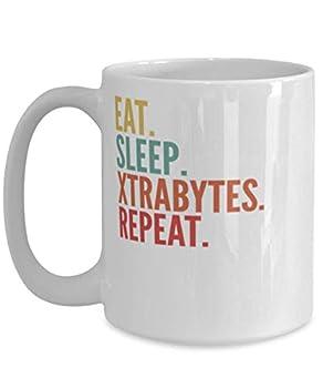 Xtrabytes Crypto Eat Sleep Xtrabytes Repeat Mug 15oz white