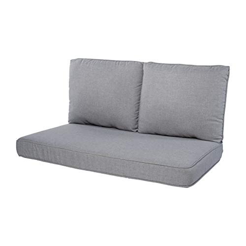 Quality Outdoor Living 29-MG02LV Loveseat Cushion, 46 x 26 3PC, Machine Grey