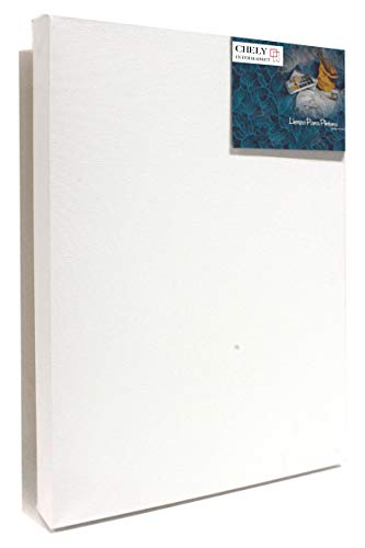 Chely Intermarket, Lienzos para pintar con oleo 40x50 cm, Grosor perfil 37mm, Pre-estirado 100% algodón, Color blanco 380grs(561-40x50-0,70)