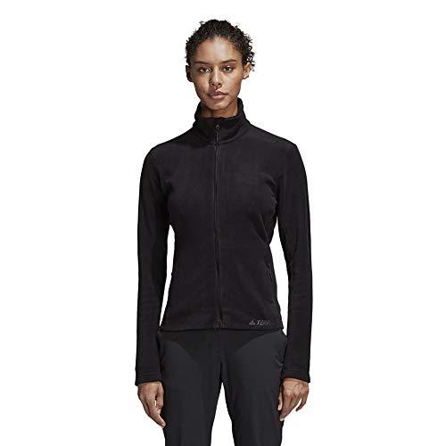 adidas Outdoor Damen DZ1410 Fleecejacke, schwarz, Mittel