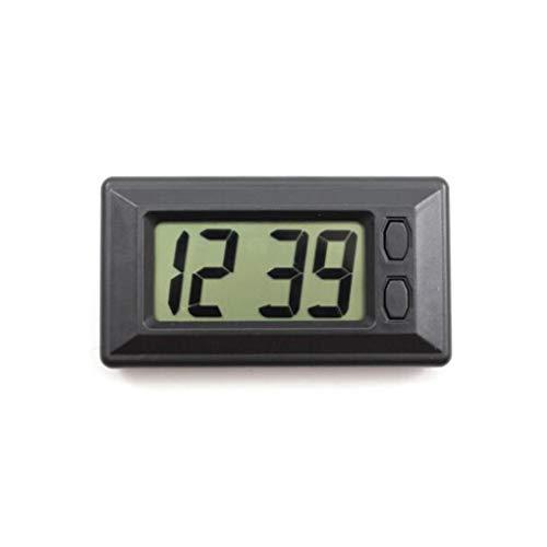 Guangcailun Ultra-dünne LCD-Digital-Display-Träger-Auto-Armaturenbrett Zeitanzeige Auto Uhr Auto Kalenderanzeige Klebepad Uhr