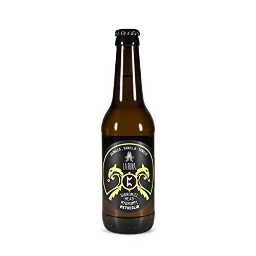 La Runa Hidromiel. Bebida Artesana. Elaborado con miel de milflores de la Alpujarra y agua de Sierra Nevada (Vainilla, 6 botellas 33cl)