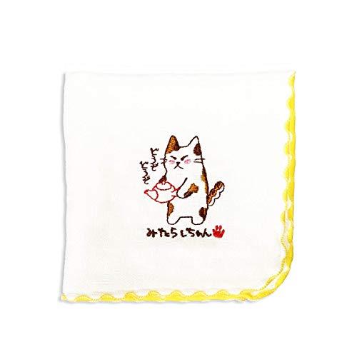 みたらしちゃん タオルハンカチ ?(急須)ハンドタオル 綿100% 日本製 可愛い 猫 ねこ