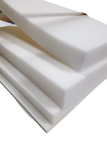 lulushop Glatt-Schaumstoff-Daemmung-Schallschutz-Fester-Rolllaeden-platten Dämmung Schaumstoff Noppenschaum100x50-cm Weiß und Schwarz (100x50x 3cm, Weiß)