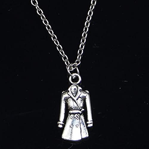 ZOJK Collar 23X11Mm Abrigo Gabardina Colgante Corto Largo Mujeres Hombres Colar Regalo Joyas Gargantilla